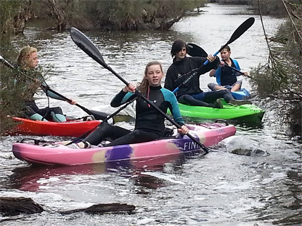 Canoeing the Hotham River