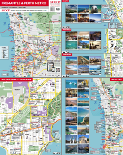 fremantle and perth metro region map