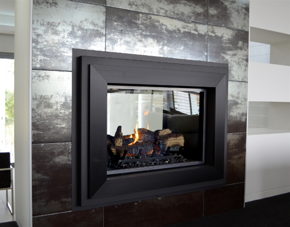 Lopi 864 double-sided direct vent gas fire