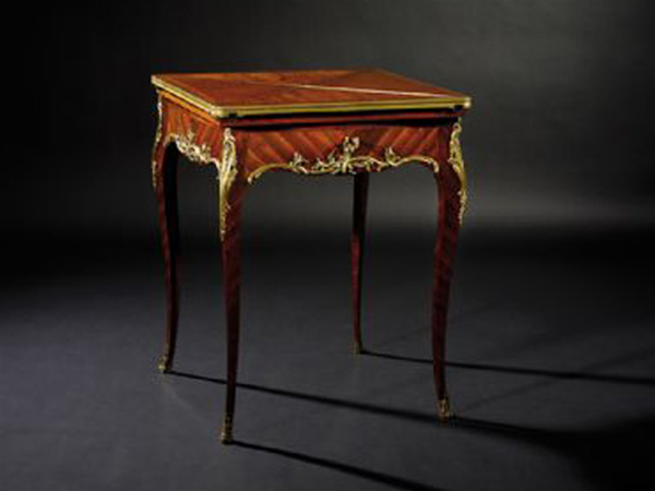 A fine quality late 19th century kingwood and ormolu mounted envelope card table in the Louis XV style, by Paul Sormani Paris