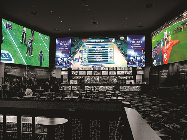 Crown Sports Bar, LED Screens - Supply, Build, Installation