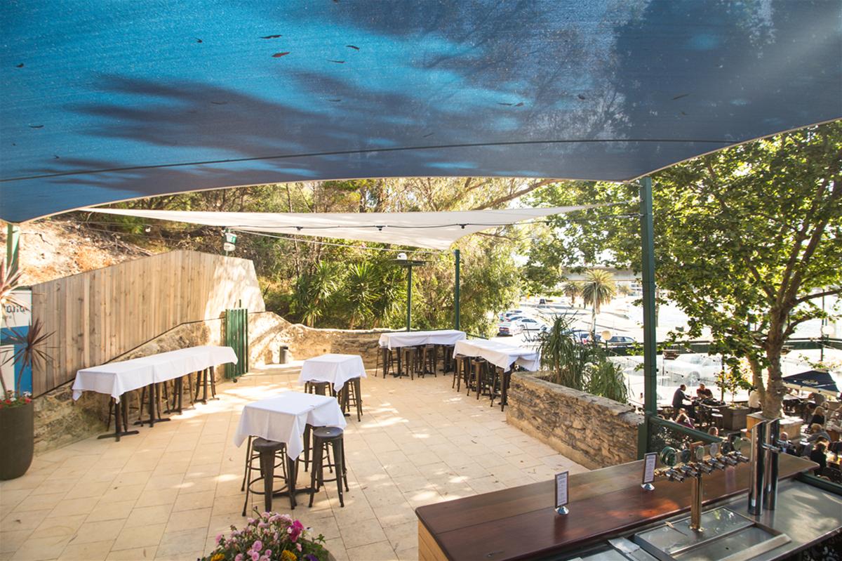 The Mezzanine (in Summer) - enjoy great views over the Beer Garden and Swan River