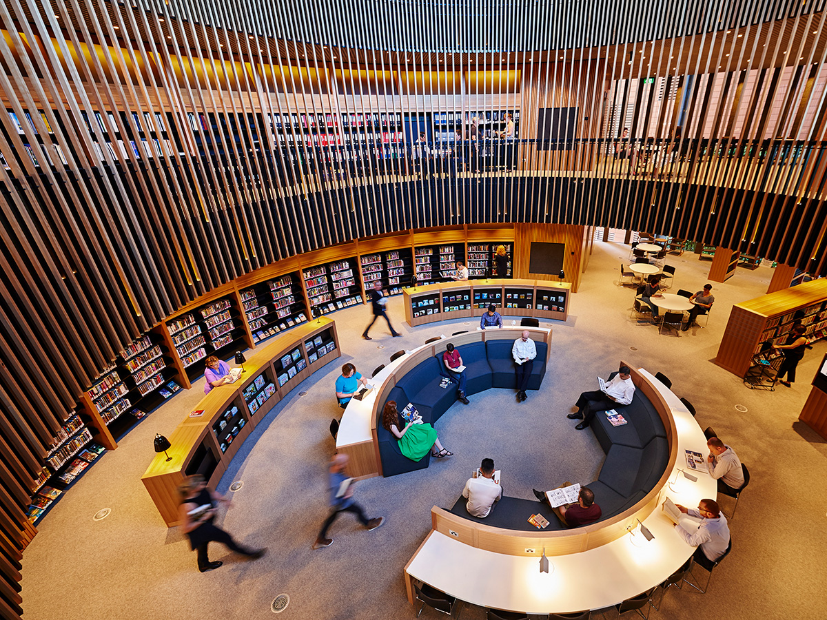 City of Perth Library in the round