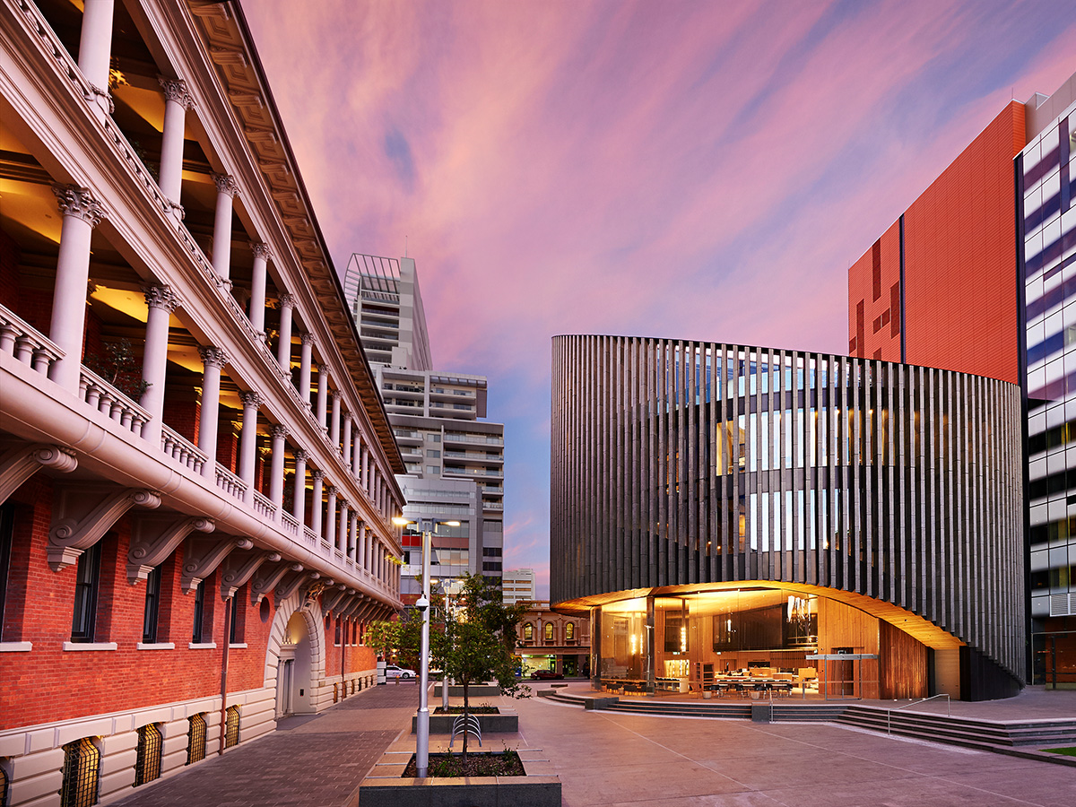 City of Perth Library twilight