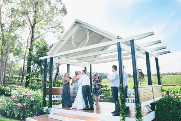 Ceremony in our Gazebo - Ben Yew photography