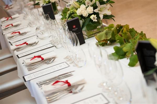 Table setting for formal dinner