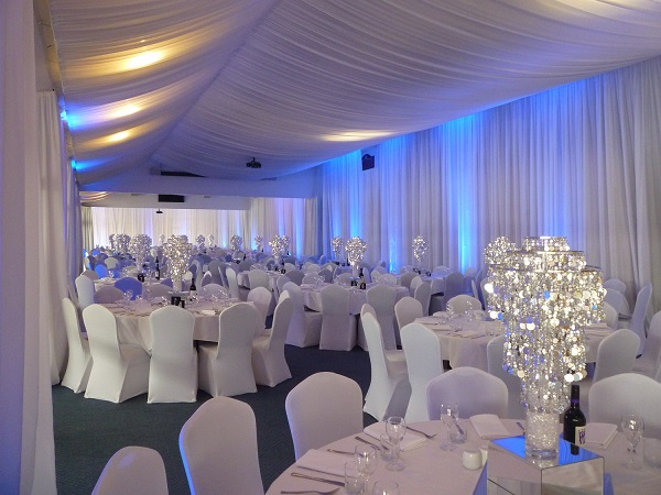 Inside the Venue Offers River Views and a Spacious Function Area