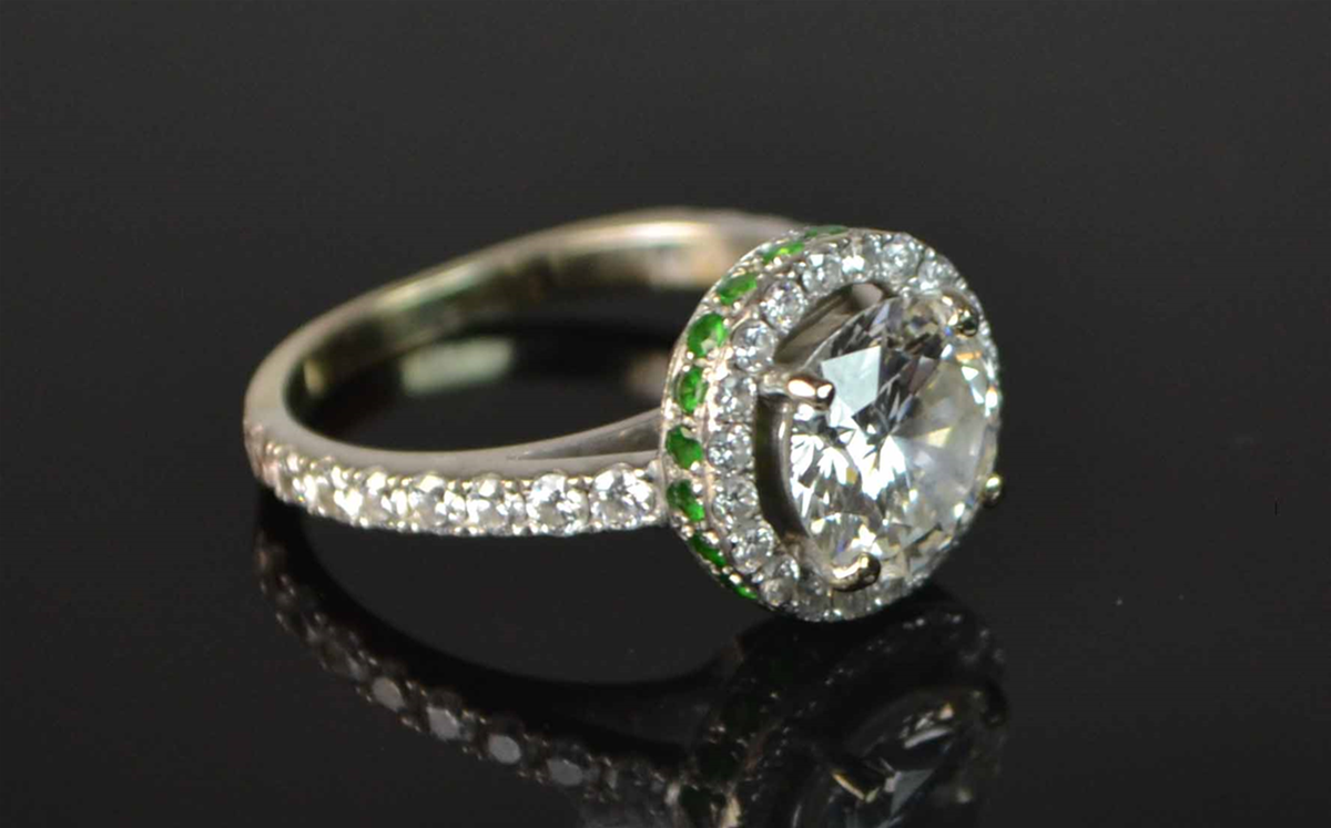 2.3 Carat Diamond Solitaire Ring with 16 shoulder diamonds