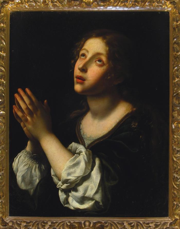 Carlo Dolci (Italian, b.1616, d.1686) Hope 1653. Oil on canvas, 99 x 85 cm (framed), 65 x 51 cm (unframed). Galleria Corsini, Florence.