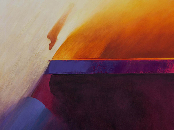 'Wind, Dust and Shadow Landscape', Oil on canvas, 111 x 101 cm