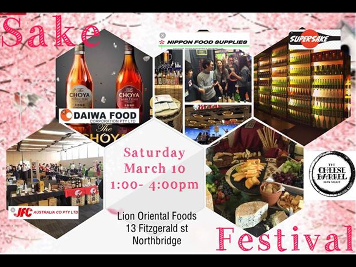 Sake Festival - Events in Western Australia - scoop com au