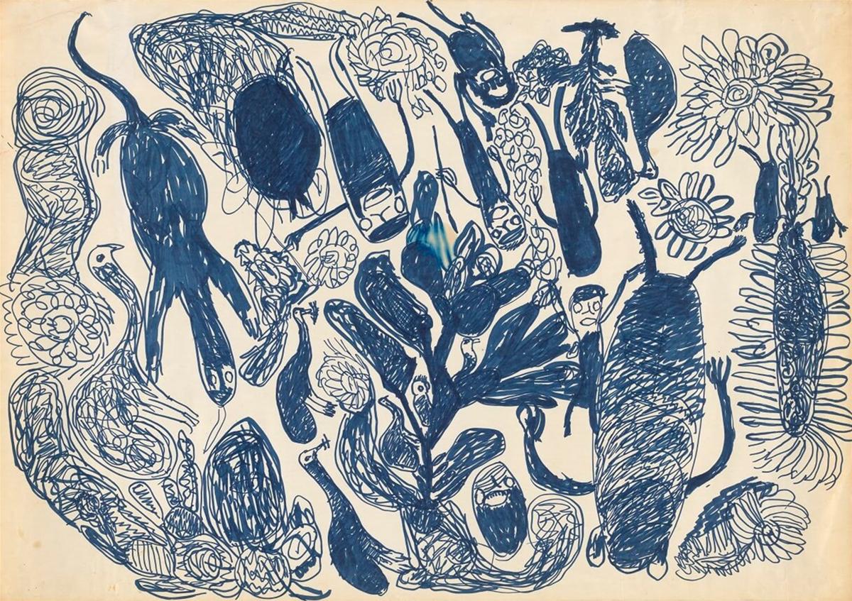 Pantjiti Mary McLean, Yultukunpa tjikini (drinking honey Grevillea) (detail)
