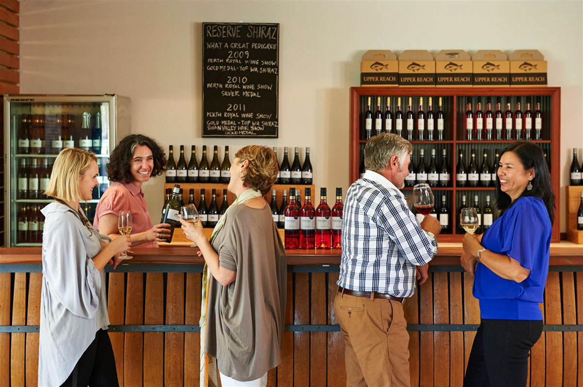 Wine tasting at cellar door