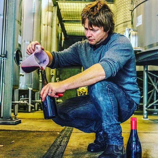 Winemaker Ryan Aggiss
