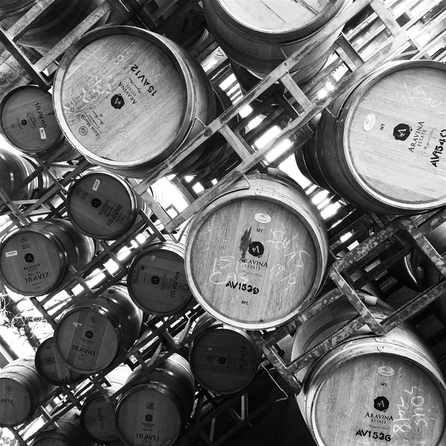 Aravina wine barrels