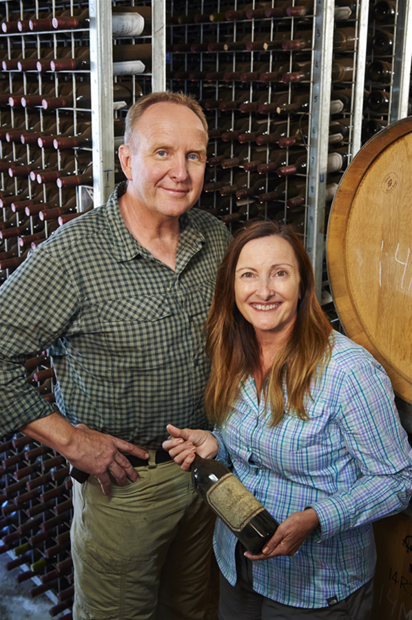 Clare and Keith Mugford, winemakers, viticulturalists & proprietors
