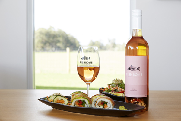 Sushi dishes and Chardonnay varieties