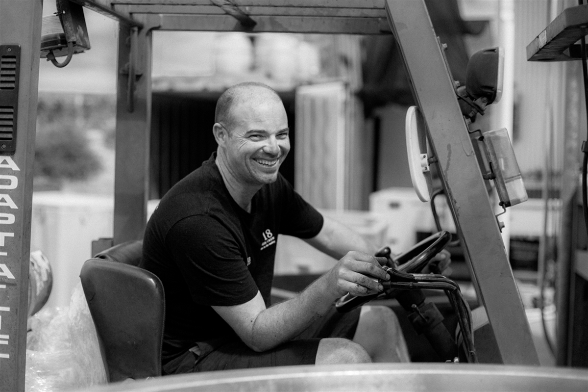 Assistant Winemaker Luc Fitzgerald
